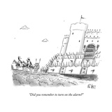 """Did you remember to turn on the alarm?"" - New Yorker Cartoon Premium Giclee Print by Christopher Weyant"