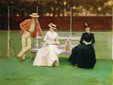 The Tennis Match Gicleetryck av Sir John Lavery