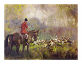 Hounds Away Premium Giclee Print by Michael Lyne
