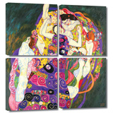 Virgins 4 piece gallery-wrapped canvas Posters by Gustav Klimt