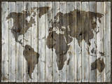 Driftwood Map Giclee Print by Paul Duncan