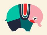 Bauhaus Elephant Giclee Print