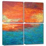 Lake Reflections II 4 piece gallery-wrapped canvas Gallery Wrapped Canvas Set by Herb Dickinson