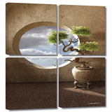 Haiku 4 piece gallery-wrapped canvas Prints by Cynthia Decker