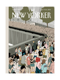 Memorial Plaza - The New Yorker Cover, July 7, 2014 Regular Giclee Print by Adrian Tomine