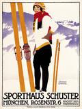 Sporthaus Schuster Munich Lámina giclée por  The Vintage Collection