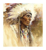 Sitting Eagle Premium Giclee Print by Harley Brown