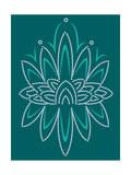 Deco Lotus Giclee Print