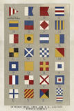 Nautical Flags Giclee Print by Ken Hurd