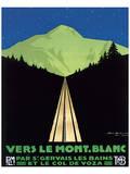 Vers Le Mont Blanc Print by Georges Dorival