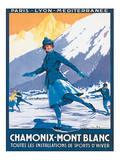 Mont Blanc, Chamonix Plakater af Roger Soubie