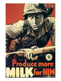 Produce More Milk for Him, c.1943 Poster