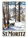 St. Moritz Posters par Emil Cardinaux