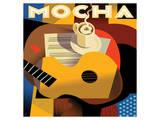 Cubist Mocha I Plakater af Eli Adams
