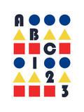 ABC 123 Giclee Print