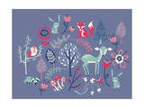 Winter Forest Friends Giclee Print