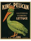 King Pelican Brand California Iceberg Lettuce Poster