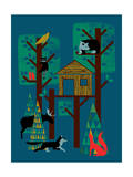 TreeHouse Giclee Print