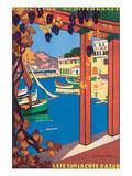 L'Ete Sur La Cote d'Azur Art by Guillaume Roger