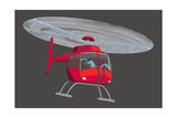 Helicopter Giclee Print
