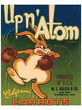 Up n' Atom Brand California Carrots Affiches