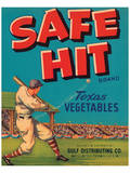 Safe Hit Brand Texas Vegetables Posters