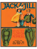 Jack & Jill Brand Selected Florida Peppers Poster