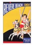 Revere Beach, Sunday Prints by Charles Holmes W.