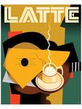 Cubist Latte II Plakater af Eli Adams