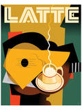 Cubist Latte II Prints by Eli Adams