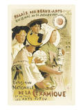 Exposition Nationale De La Ceramique - Palais Des Beaux-Arts, Champ-de-Mars, Paris Poster by Etienne Moreau-Nelaton