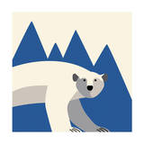 polar bear mountain Giclee Print