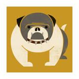 Plakastil Bulldog Giclee Print