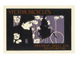 Victor Bicycles Overman Wheel Co. Posters by Will Bradley