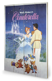 Cinderella Wood Sign Cartel de madera