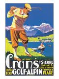 Crans, le plus beau Golf Alpin Art par  JEM