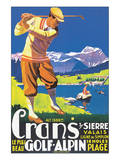 Crans, le plus beau Golf Alpin Prints by  JEM