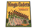 King's Cadets Brand California Green Asparagus Art