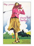 Stay young playing Golf in Germany Posters