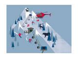 Ski Slopes Giclée-trykk