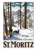 St. Moritz Poster by Emil Cardinaux