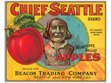 Chief Seattle Brand Wenatchee Valley Apples Prints