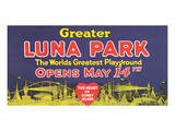 Greater Luna Park Opening Planscher