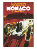 2eme Grand Prix Automobile Monaco Affiche