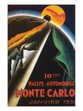 10eme Rallye Automobile Monte Carlo Posters