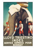 Lloyd Triestino, Indes Posters