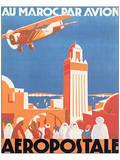 Au Maroc Par Avion, Aeropostale Poster