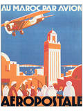 Au Maroc Par Avion, Aeropostale Plakater