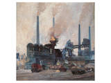 Blast Furnace of Hoesch Steel Art by Eugen Bracht