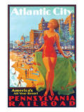 Atlantic City, America's All Year Resort Print by Edward M. Eggleston